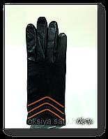 Женские кожаные перчатки на шерстяной подкладке