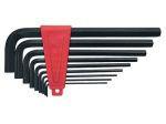 Набор ключей имбусовых 2,0–12 мм, CrV,  9 шт., удлиненные