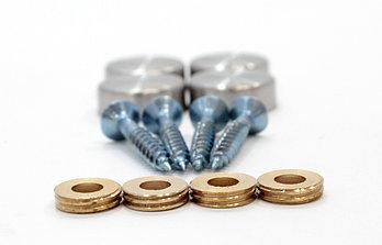 Декоративный колпачок для шурупов СТАНДАРТ нержавейка (16 мм) 4 шт