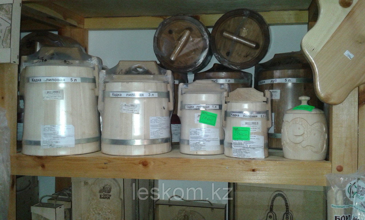 Кадка липовая для хранения меда 3л (оцинкованная сталь)