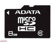 Карта памяти Adata micro SDHC 8 GB 10 CLASS, Алматы
