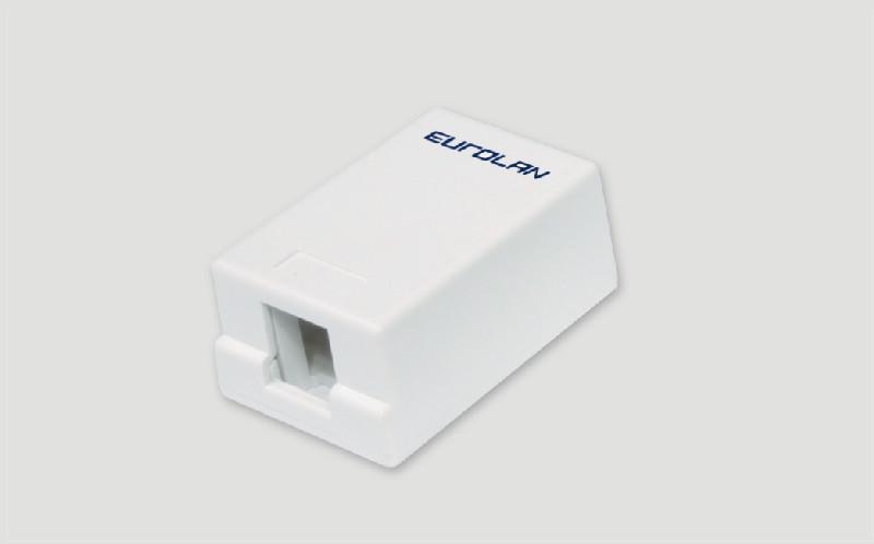 Eurolan Настенная коробка 1-портовая, под UTP модули Keystone, белая