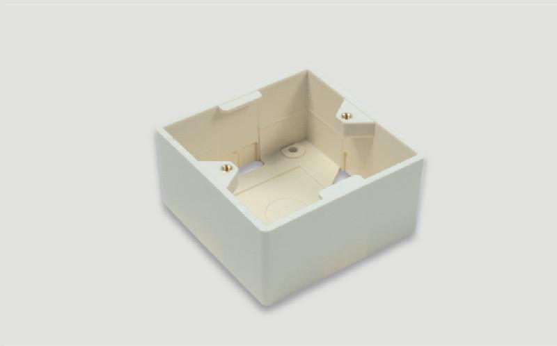 Eurolan Настенная коробка для рамок серии 45, на 2 модуля 22.5х45.0, белая
