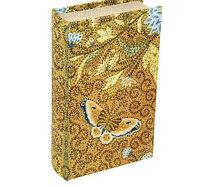Сейф-книга шёлк Цветные бабочки
