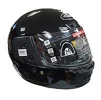 Мотошлем 107 (черный, без графики, M (57-58 см))