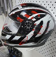 R-109 (XL) Чёрно-красно-белый Мотошлем RACER, фото 1