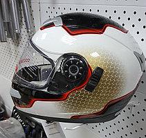 R-109 (L) Бело-черно-красный Мотошлем RACER