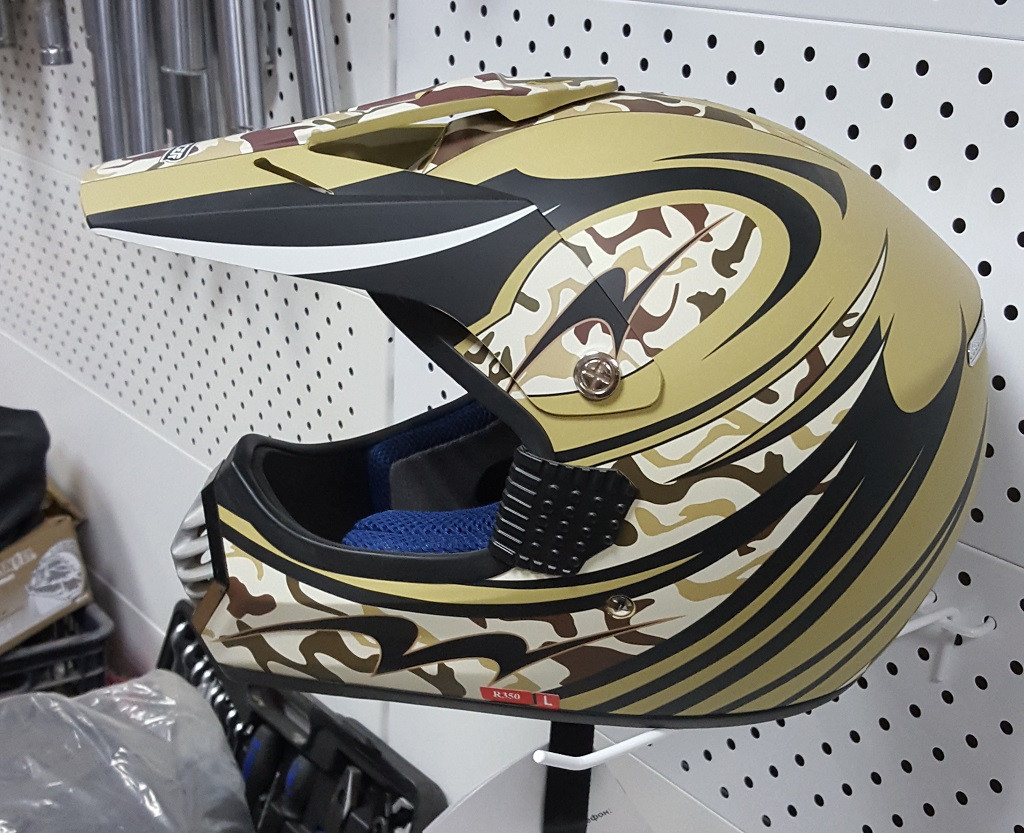 R-350 (L) Хаки Мотошлем RACER