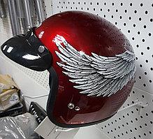 R-505N (L) Бордовый с белыми крыльями Мотошлем RACER