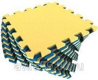 Мягкий пол желто-синий