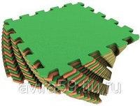 Мягкий пол для детских комнат оранжево-зеленый