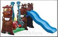 Горка для детского с сада с качелями