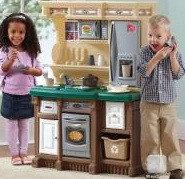 Детская игрушечная кухня «Традиция» зеленая/красная, фото 1