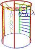 Спортивный детский уличный Комплекс гимнастический    Размеры: 2,0 x 2,5 x 2,3м