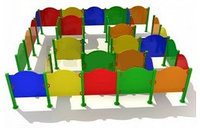 Детский уличный спортивно-игровой Лабиринт фанера  Размеры: 2.2х0.9х1.1м