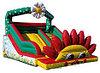 Горка-батут надувная детская«Цветочный склон»