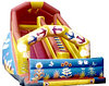 Супер горка-батут с тентом надувная детская игровая