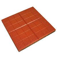 Резиновое покрытие из крошки Плитка «Сетка»,  350х350 мм, 30 мм