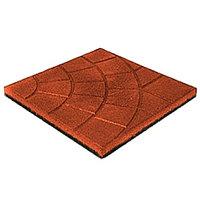 Покрытие резиновое для площадок Плиты «Паутинка», «Сеть»,  350х350 мм, 20 мм