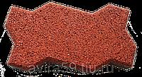 Покрытие резиновое из крошки Брусчатка «Волна», 40 мм