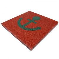 Резиновое детское покрытие Травмобезопасная плитка с детским рисунком, 500х500, 40 мм