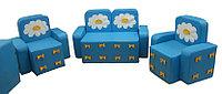Комплект мягконабивной мебели «Бантик с аппликацией» для детей без стола