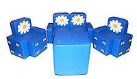Комплект мягконабивной мебели «Бантик с аппликацией» для детей со столом