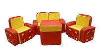 Комплект мягконабивной мебели «Бантик» для детей со столом
