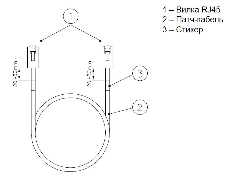 Eurolan коммутационный шнур кат.6 UTP LSZH, 3.0 м