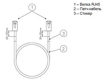 Eurolan коммутационный шнур кат.6 UTP LSZH, 0.5 м