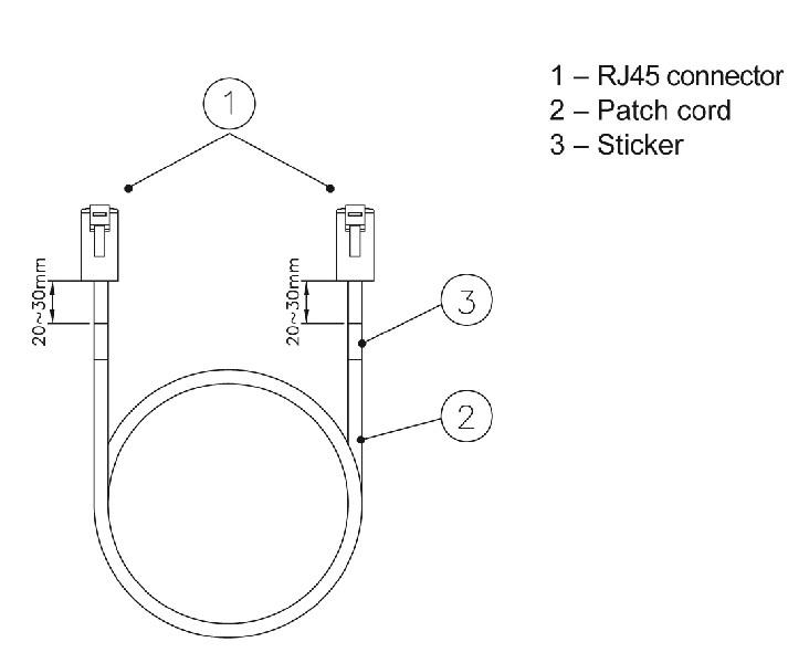 Eurolan коммутационный шнур кат. 6 FTP LSZH, 0.5 м