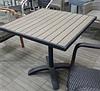 Металлический стол с пластиковой столешницей