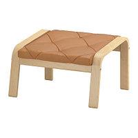 Табурет для ног ПОЭНГ березовый шпон Сеглора неокрашенный ИКЕА, IKEA, фото 1