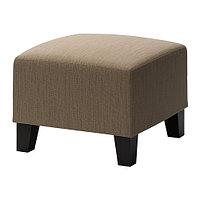 Пуф ЭКЕНЭС Хенста светло-коричневый ИКЕА, IKEA, фото 1
