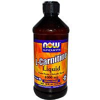 L-карнитин в жидкой форме, с цитрусовым ароматом, 1000 мг, 16 жидких унций (473 мл). Now Foods