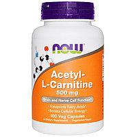 Ацетил-L-карнитин, 500 мг, 100  капсул.  Now Foods, фото 1