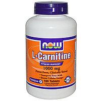 L-карнитин, 1000 мг, 100 таблеток.   Now Foods