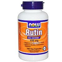 Рутин, 450 мг, 100 капсул на растительной основе.  Now Foods