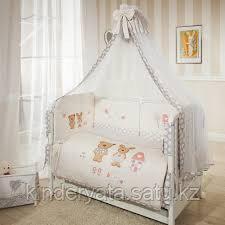 Комплект для кроватки Perina Венеция Лапушки (7 предметов), бежевый