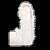 Насадка, прозрачная с язычком для стимулятора клитора