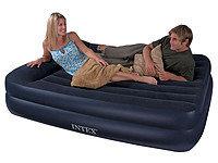 """66720, Intex, Надувная кровать """"Pillow Rest Raised Bed"""" 152х203х42см с подголовником"""