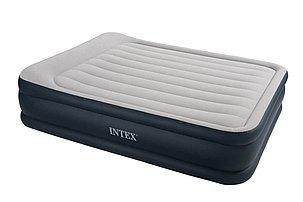 """Надувная кровать """"Deluxe Pillow Rest Raised Bed"""" 152х203х43см с подголовником, фото 2"""