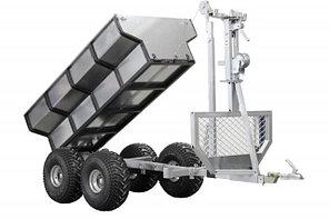 Прицеп двухосный 800 кг с механическим краном