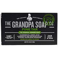 Дегтярное мыло для лица, тела и волос. 120 гр. Grandpa's