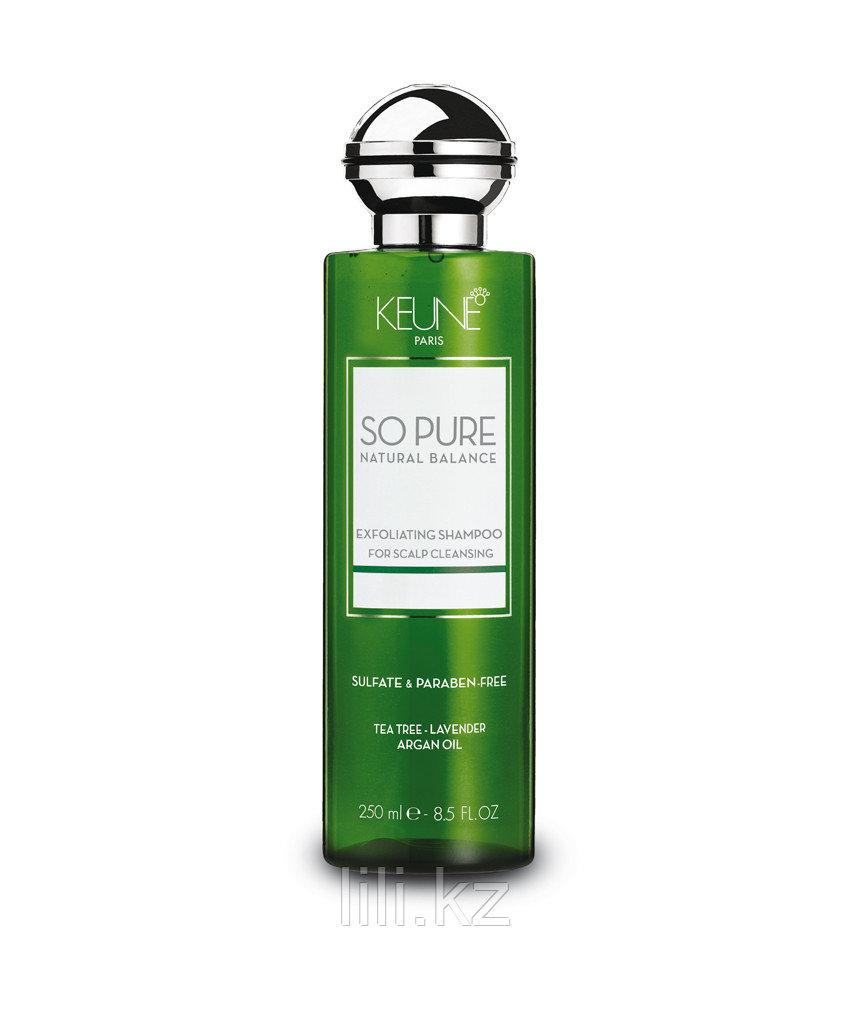 "Шампунь ""Обновляющий"" против перхоти и зуда Keune So Pure Natural Balance Exfoliating Shampoo 250 мл - фото 1"