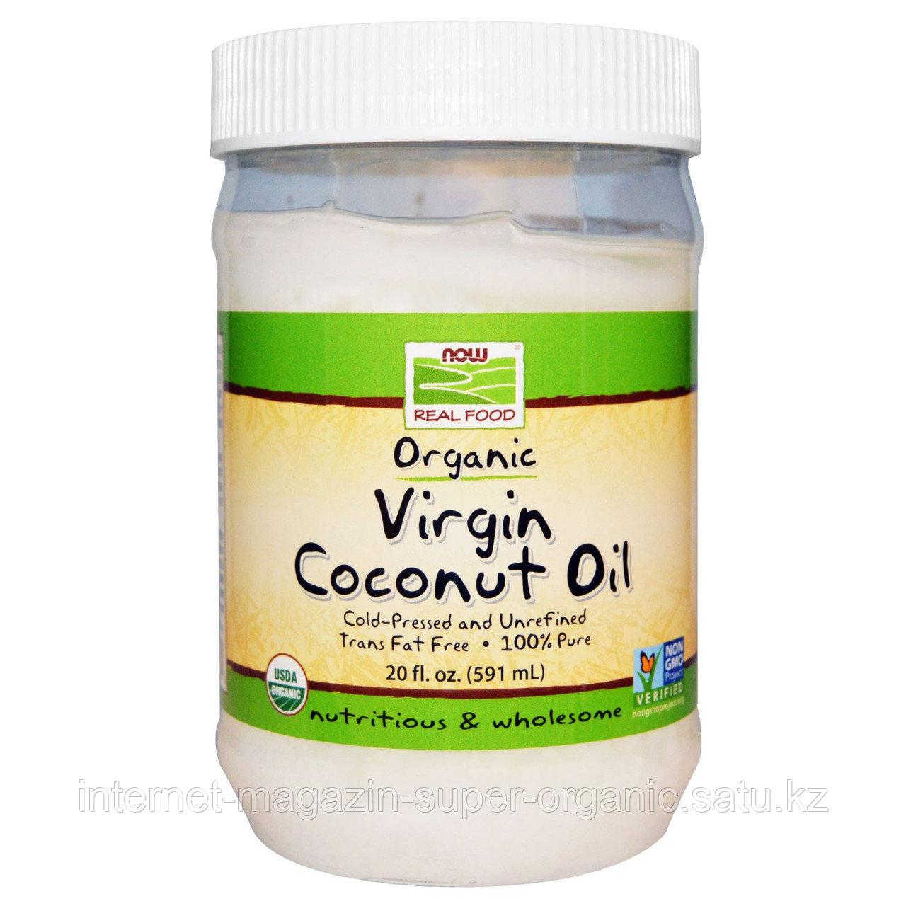 Кокосовое масло органическое первого холодного отжима нерафинированное, 591 мл