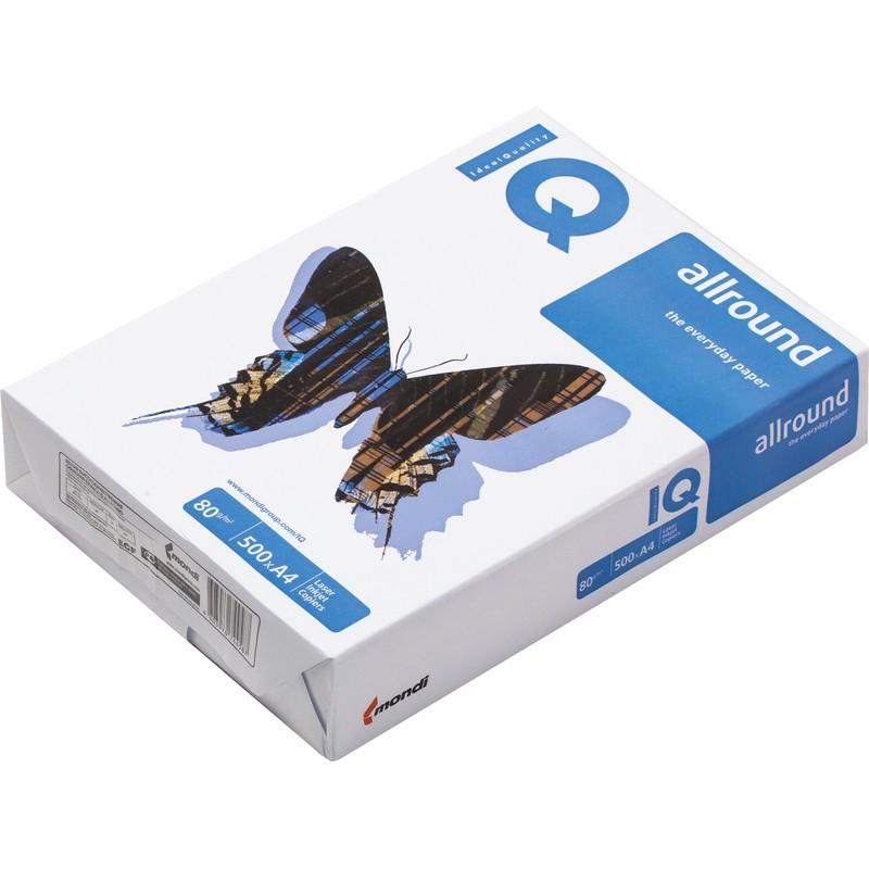 "Бумага ""IQ Allround"" формат А3, пл-ть 80 гр/м2, 500 лист/пач, белизна по CIE 160%"