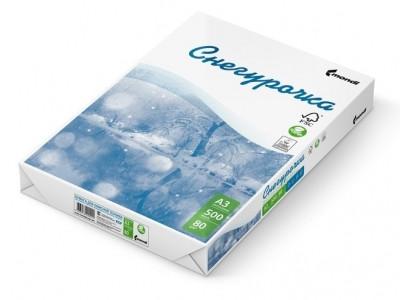 Бумага Снегурочка, А3, 80 гр/м2, 500 листов в пачке, С класс