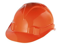 Каска защитная из ударопрочной пластмассы, оранжевая СИБРТЕХ Россия