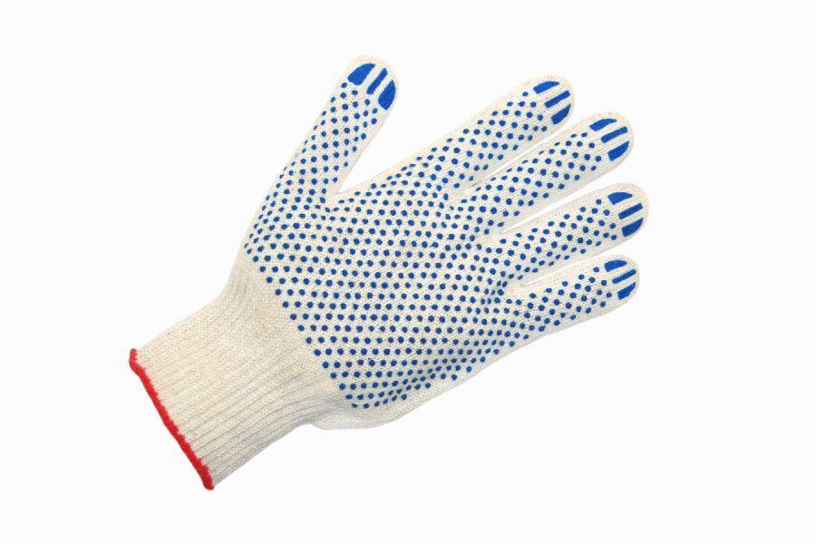Перчатки ПВХ, перчатки ХБ с ПВХ